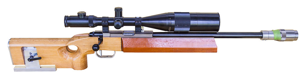 John's Anschutz, Anschutz 2013,Home built stock,Nightforce 12-42X scope, Home made barrel tuner