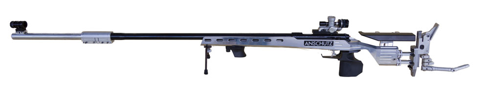 Steve's Rifle - Anschutz 1913 in Precise Stock, Home made 300mm Sight extention, MEC rear and fount sights
